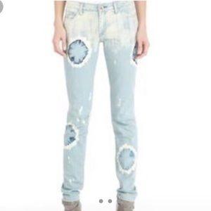 Rachel Roy skinny distressed jeans midrise size 27